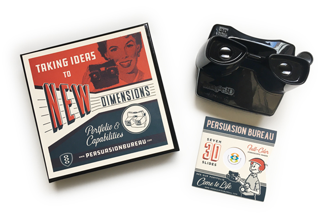 Amazing custom View-Master portfolio